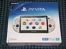 NEW PS PlayStation Vita PSV Wi-Fi SILVER console system PCH-2000 ZA25 JAPAN F/S