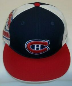 NHL Montreal Canadiens Flat Bill Fitted Hat By Reebok - Size 7 3/8 - New