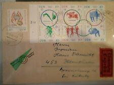 DDR Mi.Nr.1039-44 ZD Olympiade 1964 als Eilbrief von Stollberg nach Ibbenbüren