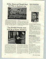 1954 PAPER AD Bayshore Toys Mickey Mouse Donald Duck Article