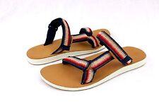 Teva Original Universal Slide Ombre Leather Sandals Navy Womens Size 10 US