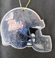 Ole Mississippi Glass Helmet Christmas Ornament Holiday Football College Fan