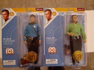 "MEGO 8"" Star Trek Action Figure Set Spock, Captain Kirk, Tribbles"