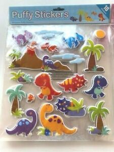 5 big PUFFY STICKERS 3D wholesale job lot bulk Party Bag Filler toy GOODY