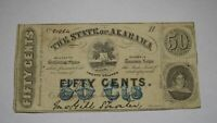 $.50 1863 Montgomery Alabama AL Obsolete Fractional Currency Bank Note Bill!