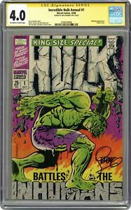 Incredible Hulk Annual #1 CGC 4.0 SS 1968 2509236006