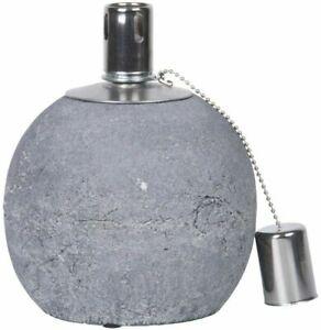 Oil Lamp Concrete (Small) - Concrete, Stainless Steel,  Fiberglass Wick