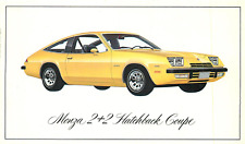 1976 CHEVROLET MONZA 2+2 HATCHBACK COUPE AUTOMOBILE ADV CHROME POSTCARD