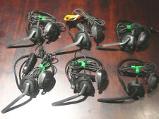 Lot of Six Plantronics Audio 648 Stereo USB Telephone Teleconferencing Headsets