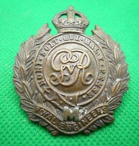 Royal Engineers George V Militia Cap Badge