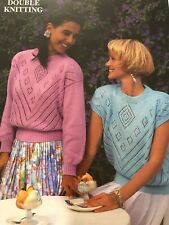 Patons Lacy Top & Sweater Double Knitting Pattern PBN C 4696