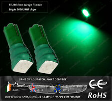 LED T5 286 Wedge Green Dashboard Cluster Lamps Speedo Instrument Bulbs Lights