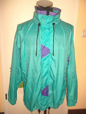 vintage 80`s Regenjacke nylon oldschool rain jacket festival new wave XL