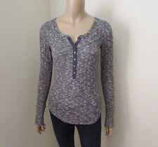 NEW Abercrombie Womens Knit Henley Size XS Gray Top Shirt