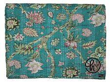 Indian Quilt Flower Design Print Bedding Kantha Gudari King Size Bedding Blanket