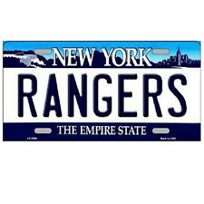 "New York Rangers New York State Background Novelty Metal License Plate 6"" x 12"""