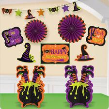 10 Pieza Happy Halloween Raro malvada bruja la tripulación Fiesta Decoración De Habitación