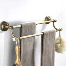 Antique Brass Double Towel Bar Rack Bathroom Wall Mounted Towel Holder QD1715