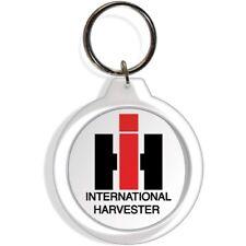 International Harvester Tractor Farm Garden Rider Keychain Key Ring Chain