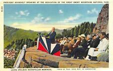 TN, Tennessee   PRESIDENT ROOSEVELT-Smoky Mtn Park Dedication   c1940's Postcard