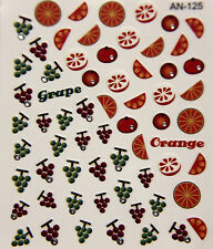 Nagelsticker Nagel Sticker Grape Orange AN-125