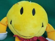 BIG YELLOW SMILEY FACE RED BANDANNA ROUND CIRCLE NEW LOVABLE HUGGABLE PLUSH TAGS