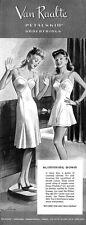 Van Raalte Slither Slip PANTIE CHEMISE Jersey Petalskin SLIMMING DOWN 1942 Ad