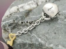 STERLING SILVER BEAD EUROPEAN CHARM FOR BRACELET A272 heart and key love open