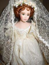 "Seymour Mann Porcelain 16"" Bride Doll"