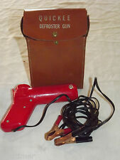 VINTAGE AUTO CAR BATTERY OPERATED 1950-60S QUICKEE WINDOW DEFROSTER GUN  IN CASE