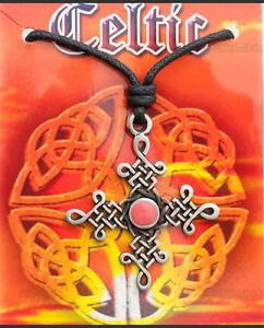 A Sospensione + Cordino Croce Celtica Plastico IN Peltro Protezione 7942 F3