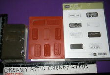 STAMPIN UP THAT'S THE TICKET 8 CLING RUBBER STAMPS AND DUO TICKET PAPER PUNCH NI