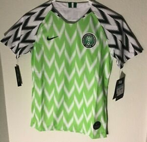 Nike Nigeria Soccer Jersey Green/White World Cup 2018 Youth M-L-XL NWT