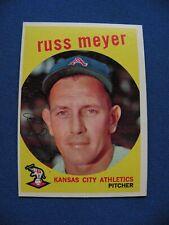 1959 Topps Russ Meyer Kansas City Athletics card #482 gray back baseball $1 S&H