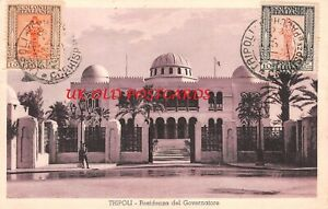 LIBYA,  PPC Postcard Sent from Tripoli  to Italy 1934
