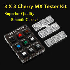 3X3 Acrylic Cherry MX Switches Tester Kit Keyboard Sampler Clear Keycap Key Cap