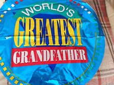 """WORLDS GREATEST GRANDFATHER 18"""" foil balloon #11486"""