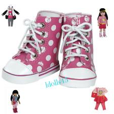 Adora 18' Friends Pink/White Polka Dot High Top Shoes  ***