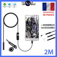 2M Endoscope 7mm Caméra d'inspection étanche Renforcé pour Android/PC ENVOI 24H