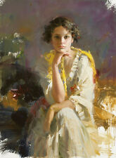 """Pino Daeni,Hand-painted Portrait oil Painting On Canvas 24x36""""#033/Unframed"""