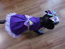New listing dog dress,passionate about purple,lace trim, Small*(read details for size)