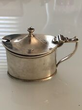 Antique Solid silver mustard pot By Wilson And Gill