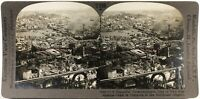 Turchia Panorama Da Costantinopoli c1900 Foto Stereo Analogica Vintage