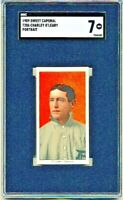 1909 SWEET CAPORAL T206 CHARLEY O'LEARY PORTRAIT SGC 7 NM LOW POP
