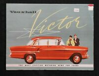 """1958 """"VAUXHALL VICTOR"""" AUTOMOBILE CATALOG SALES BROCHURE FOLD-OUT POSTER NICE"""