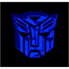 TRANSFORMERS AUTOBOT Chrom Blau 2x Aufkleber Sticker Emblem 100x100mm