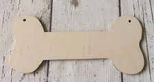 set of 10 raw unpainted birch plywood dog bones - great for crafting