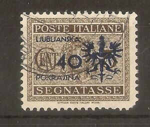 (5) Slovenia 1944 40c Postage Due on Italy SG.D101 Fine Used Cat£85