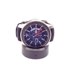 Samsung Galaxy Watch SM-R800 46mm Silver Case Black Band *Barometer Defective*