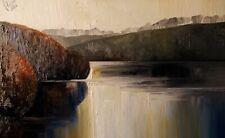 "Oil painting "" Clatworthy Reservoir "",  80cm x 50cm,  Justyna Kopania"